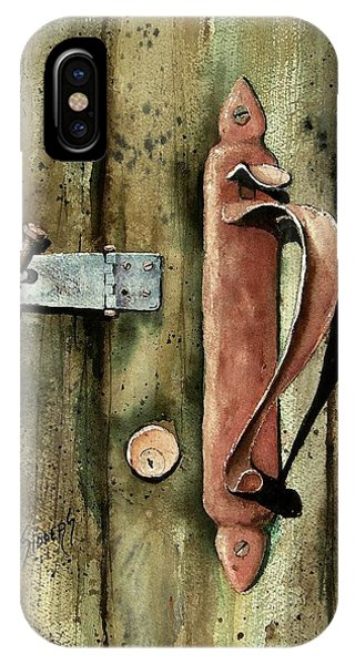 Country Door Lock IPhone Case