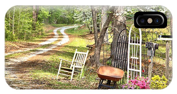 Country Driveway In Springtime IPhone Case