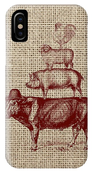 Cow iPhone X / XS Case - Country Farm Friends 2 by Brandi Fitzgerald