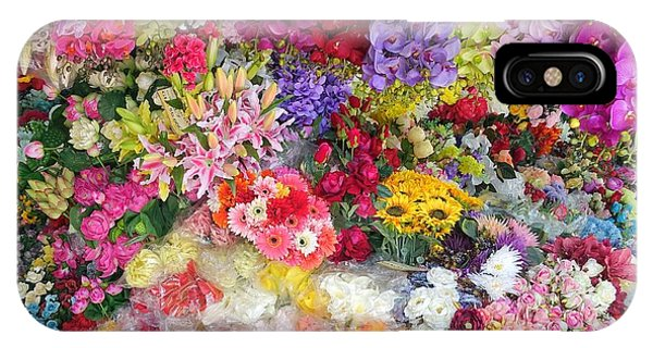Country Flower Garden Colourful Design IPhone Case