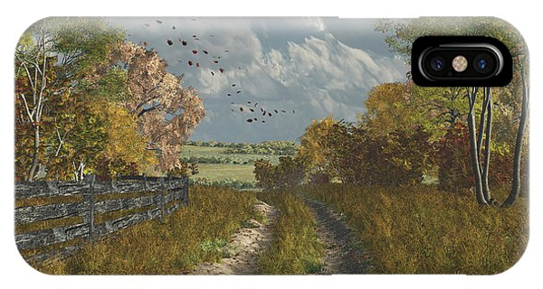 Country Lane In Fall IPhone Case