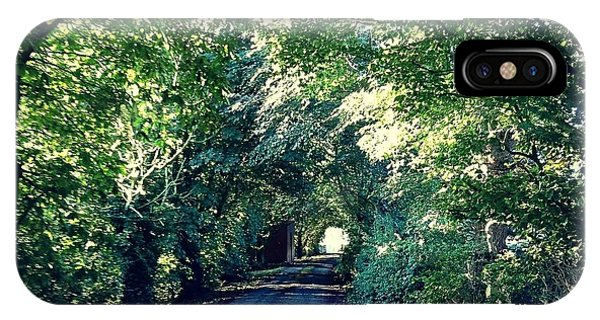 Country Lane, Tree Tunnel IPhone Case