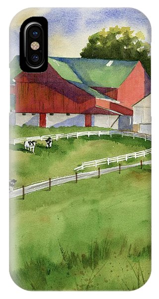 Farm iPhone Case - Country by Marsha Elliott