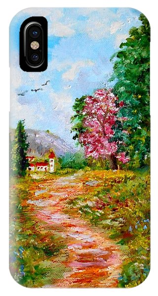 Country Pathway In Greece IPhone Case