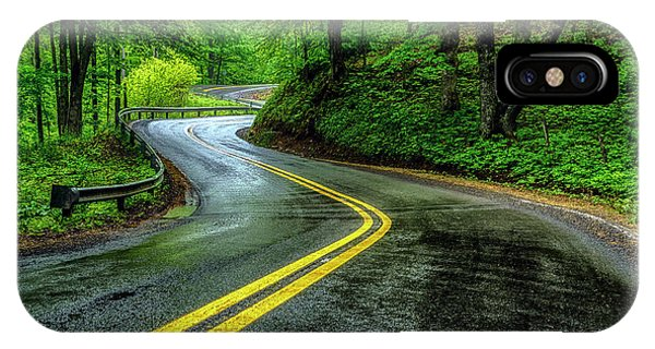 iPhone Case - Country Road In Spring Rain by Thomas R Fletcher