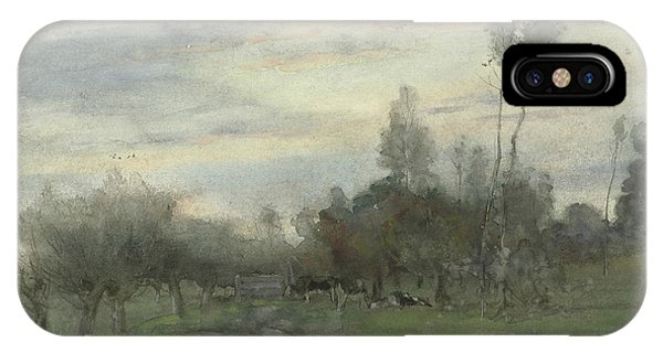 Geo iPhone Case - Country Road With Cows At Dusk by Geo Poggenbeek