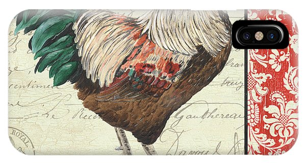 Rooster iPhone Case - Country Rooster 1 by Debbie DeWitt