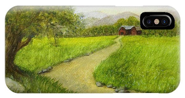 Country Scene - Barn In The Distance IPhone Case