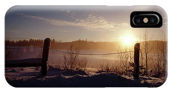 Country Winter Sunset IPhone Case