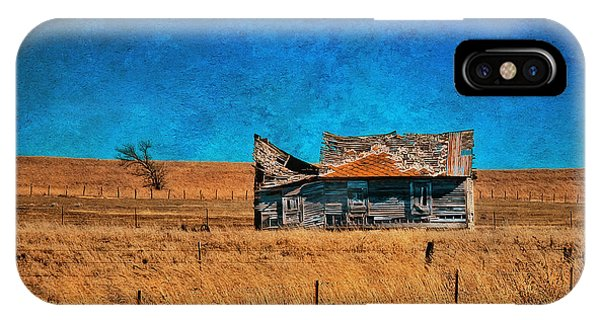 Countryside Abandoned House IPhone Case