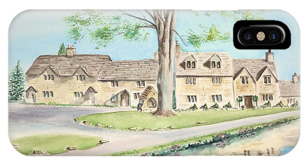 Countryside Cottages IPhone Case