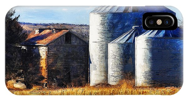 Countryside Old Barn And Silos IPhone Case