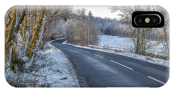 Countryside Road In Central Scotland IPhone Case