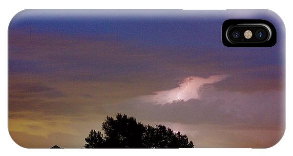 County Line 1 Northern Colorado Lightning Storm IPhone Case