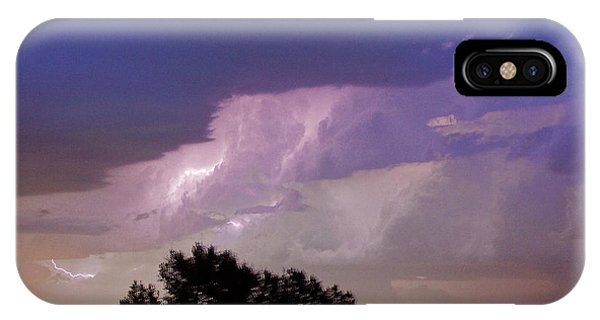 County Line Northern Colorado Lightning Storm Cropped IPhone Case