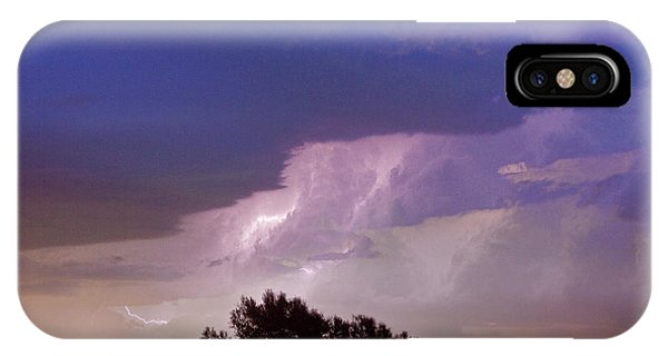 County Line Northern Colorado Lightning Storm IPhone Case
