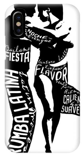 Having Fun iPhone Case - Couple Dancing Latin Music by Patricia Awapara