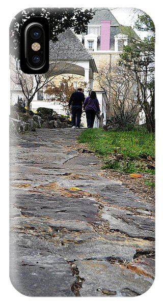 IPhone Case featuring the photograph Couple On A Garden Path by W And F Kreations