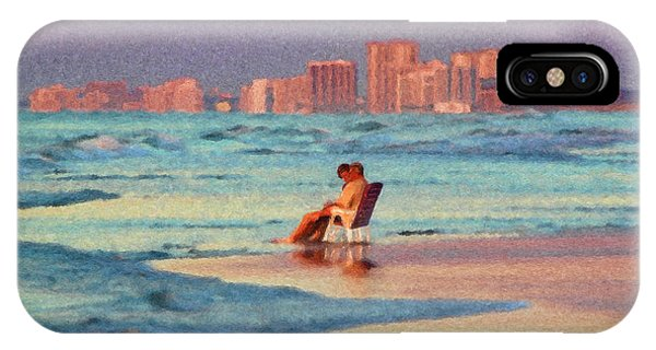 Couple Watching The Sunset IPhone Case