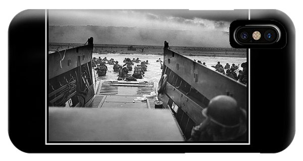 Normandy iPhone Case - Courage -- D Day Poster by War Is Hell Store