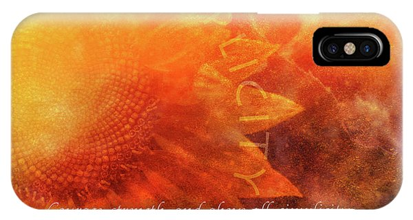 Sunflower iPhone Case - Courage by Terry Davis