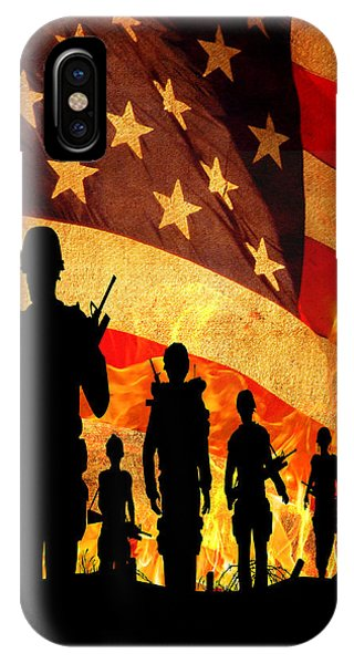 Courage Under Fire IPhone Case