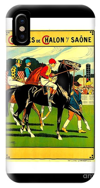 Courses De Chalon French Horse Racing 1911 II IPhone Case