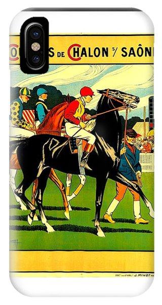 Courses De Chalon French Horse Racing 1911 II Leon Gambey IPhone Case