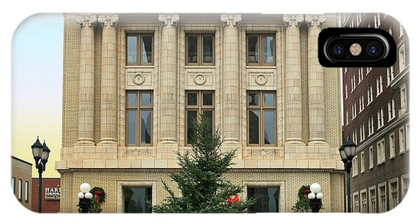 Christmas Tree iPhone Case - Courthouse At Christmas by Greg Joens
