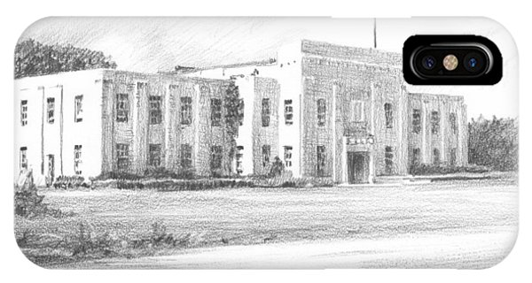Courthouse Four Livingston Parish La Drawing Phone Case by Mike Theuer