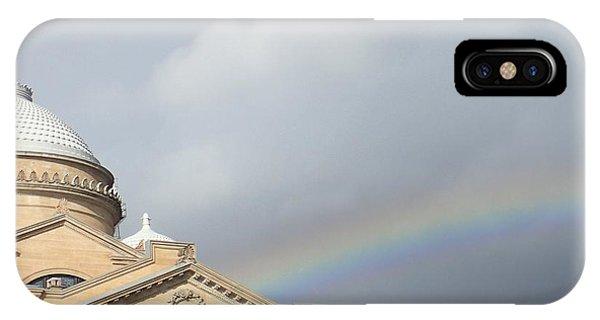 Courthouse Rainbow IPhone Case