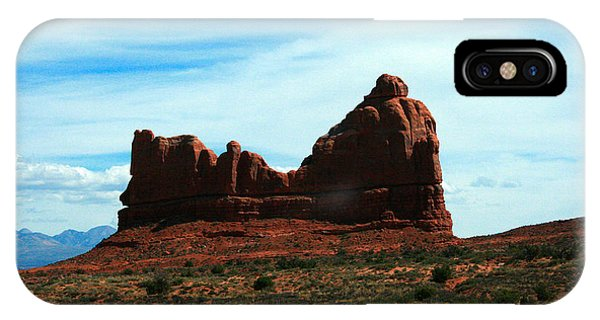 Courthouse iPhone Case - Courthouse Rock In Arches National Park by Corey Ford