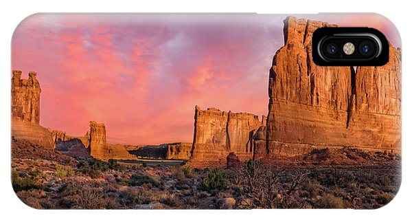 Courthouse Towers And Three Gossips Phone Case by T-S Fine Art Landscape Photography