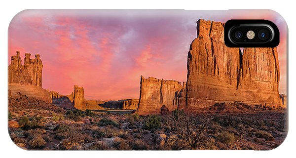 IPhone Case featuring the photograph Courthouse Towers And Three Gossips by Expressive Landscapes Fine Art Photography by Thom