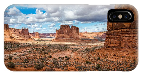 Courthouse Towers At Arches National Park IPhone Case