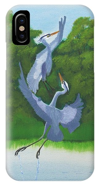 Courtship Dance IPhone Case