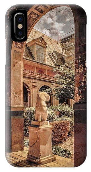 Paris, France - Courtyard East - L'ecole Des Beaux-arts IPhone Case