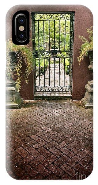 iPhone Case - Courtyard Gateway by Margie Hurwich