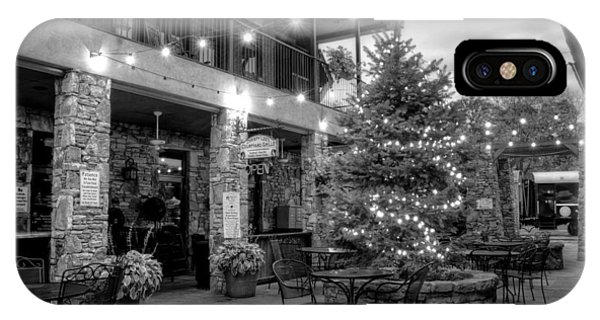 Courtyard In Blue Ridge In Black And White IPhone Case