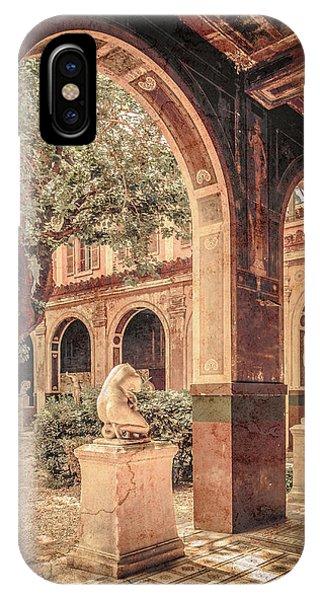 Paris, France - Courtyard West - L'ecole Des Beaux-arts IPhone Case