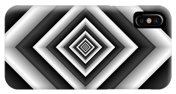 Covariance  6 Modern Geometric Black White IPhone Case