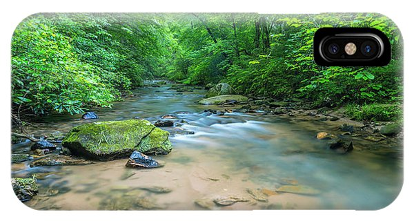 IPhone Case featuring the photograph Cove Creek Panorama by Ranjay Mitra
