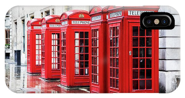 iPhone Case - Covent Garden Phone Boxes by Jane Rix