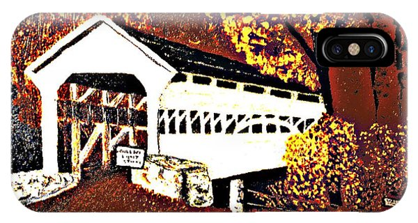 Covered Bridge At Valley Forge Pennsylvania IPhone Case