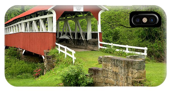 Somerset County iPhone Case - Covered Bridge In Middlecreek Township by Adam Jewell