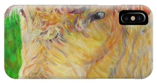 Cute And Curly Cow IPhone Case
