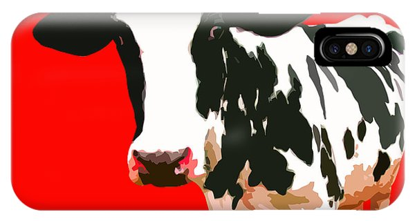 Art Cow iPhone Case - Cow In Red World by Peter Oconor