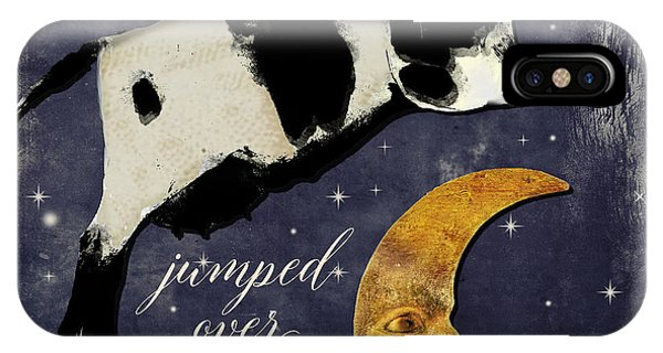 Art Cow iPhone Case - Cow Jumped Over The Moon by Mindy Sommers