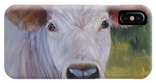 Cow Painting Ms Ivory IPhone Case
