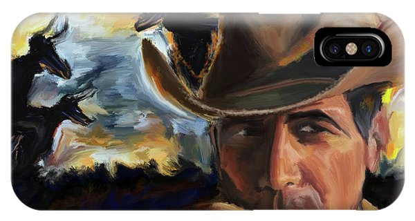 King Charles iPhone Case - Cowboy 250 1  by Mawra Tahreem